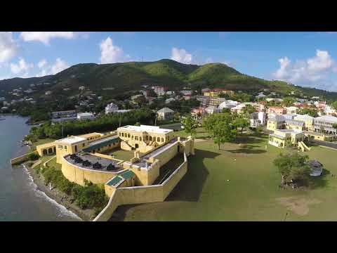 Drone fly over St. Croix USVI (Christiansted area)