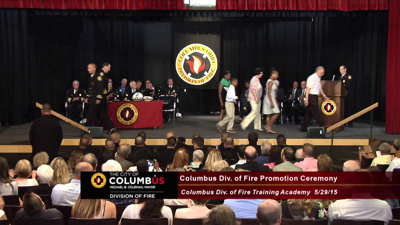 columbus division of fire promotion ceremony youtube
