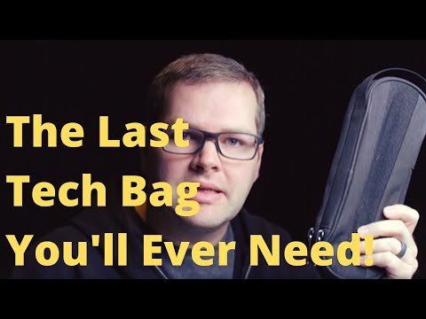 The Last Tech Bag You'll Ever Need! (Side by Side Power Pack Tech Pouch) IT FITS EVERYTHING!