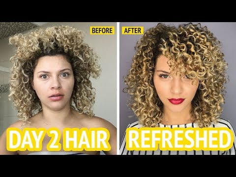 HOW I REFRESH MY CURLY HAIR WITH NO HEAT OR FRIZZ