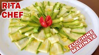 Zucchine Marinate Al Limone E Basilico Di Rita Chef - Ricetta Vegetariana.