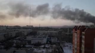 """Пожар на автобусном заводе """"ЛиАЗ"""" в Подмосковье"""