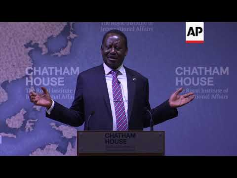 """Odinga says democracy in Africa is """"in jeopardy"""""""