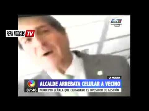 ¡Escandalo! Alcalde de La Molina, Juan C. Zurek, arrebata CELULAR a Vecino