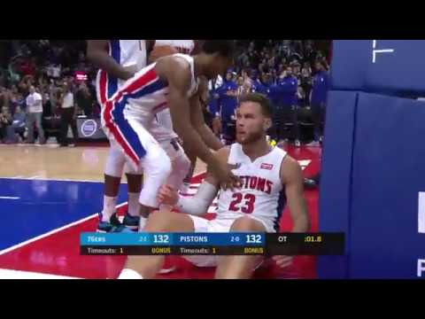 Pistons-Sixers Crazy Overtime | Blake Griffin Hits Game-Winner and Drops 50