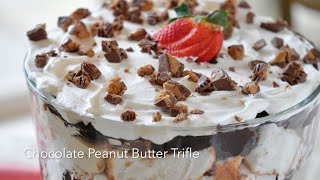 How To Make Chocolate Peanut Butter Trifle With Reese's Peanut Butter Cups
