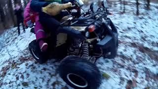 Катаемся в лесу на квадроцикле Avantis Hunter 8 lux