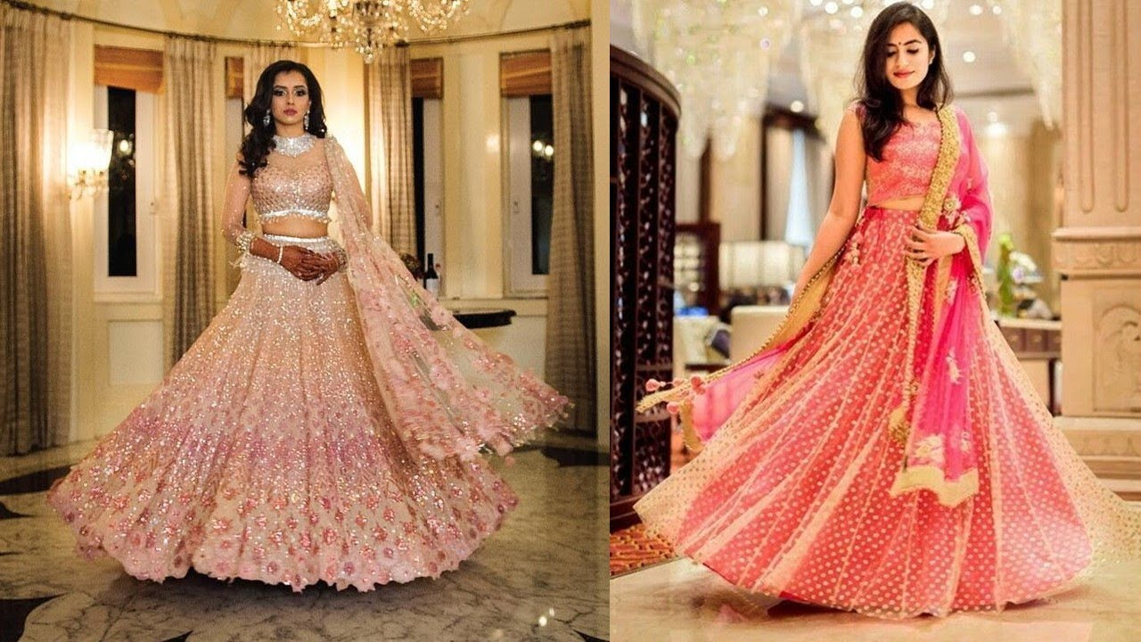Engagement Lehenga Pink Designs 2019 | Indian Fashion 2019 - YouTube