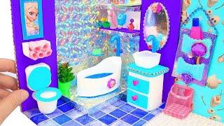 DIY Miniature Frozen Bedroom and Bathroom