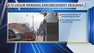 Columbus' 72-hour parking enforcement resumes