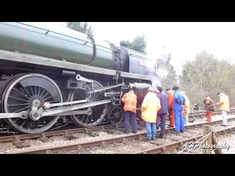 Nene Valley Railway Winter Steam Gala 2013 + Derailed Britannia at Yarwell