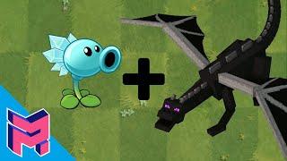 Plants vs Zombies Fusion Hack Animation ( Snow Peashooter + Enderdragon)