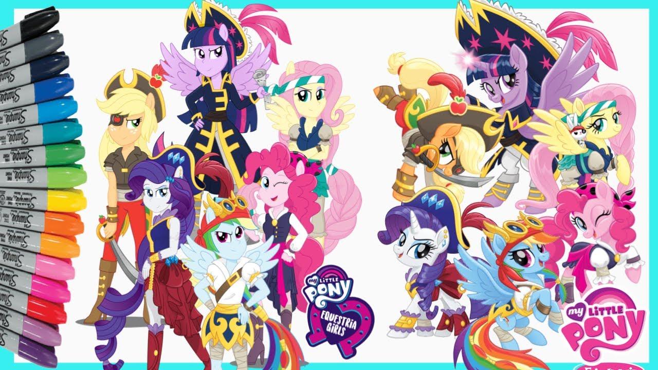 My Little Pony Equestria Girls PIRATES Coloring Pages Menggambar dan Mewarnai Kuda Poni