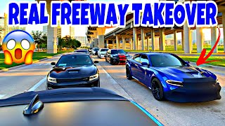 DODGE CHARGERS SETTING NEW TOP SPEED ** FREEWAY TAKEOVER**