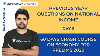 Previous Year Questions on National Income   60 Days Course for Prelims 2020