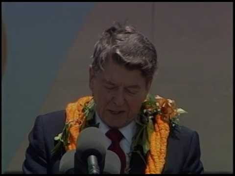 President Reagan's Remarks at his Arrival Ceremony in Honolulu, Hawaii on April 26, 1986