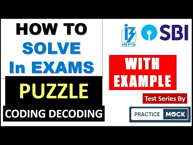 How to Solve Puzzle and Coding Decoding in EXAM | 2 EXAMPLE  Fully Solved