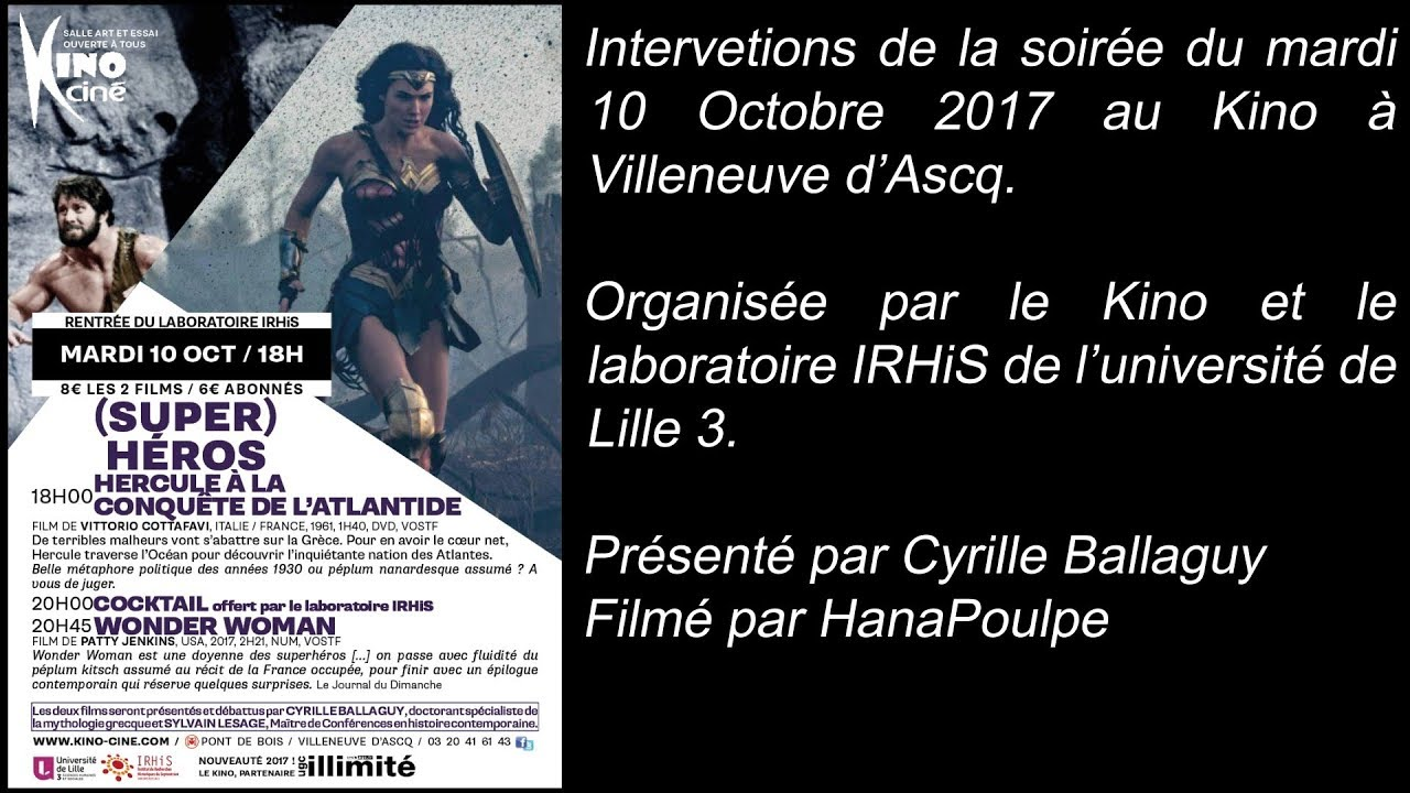 Youtube Video: Soirée (Super) Héros - interventions