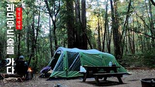 레드우드캠핑1//숲속캠핑 그리고 자연 닮은 텐트에서 보…
