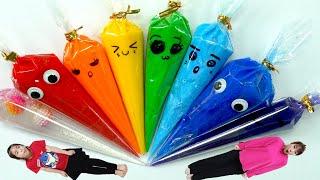 무지개 슬라임은 누가? 서은이의 컬러풀 슬라임 튜브 만들기 슬라임 인형 Making Rainbow Slime Tube Seoeun Story