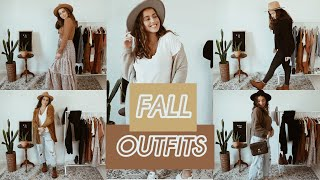 11 SIMPLE + CUTE Fall Outfits || Easy to Recreate (: