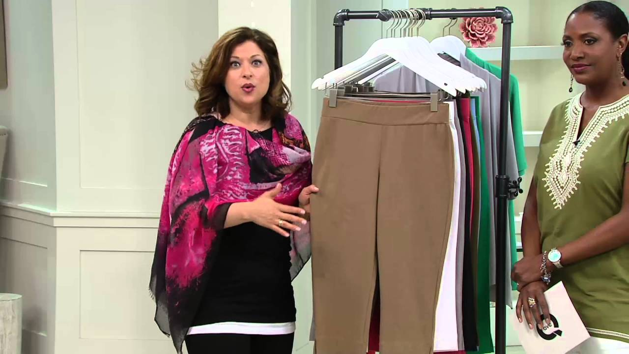 968f8772fe3 Women With Control Contour Waist Pull-On Capri Pants on QVC - YouTube
