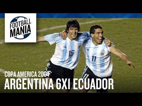 Argentina Stunning 6x1 Win vs. Ecuador - Copa América 2004