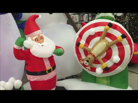 top 20 usa christmas garden inflatables for 2016 with santa claus spider man star wars youtube - Star Wars Blow Up Christmas Decorations
