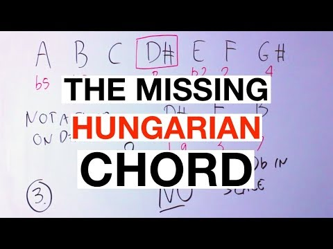 The MISSING Chord Of The Hungarian Minor Scale [Music Theory]