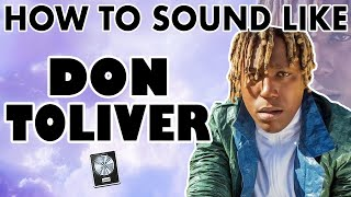 """How to Sound Like DON TOLIVER - """"Cardigan"""" Vocal Effect - Logic Pro X"""