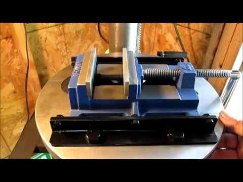 Drill Press Vise Mount   ( smoothed edges and painted )