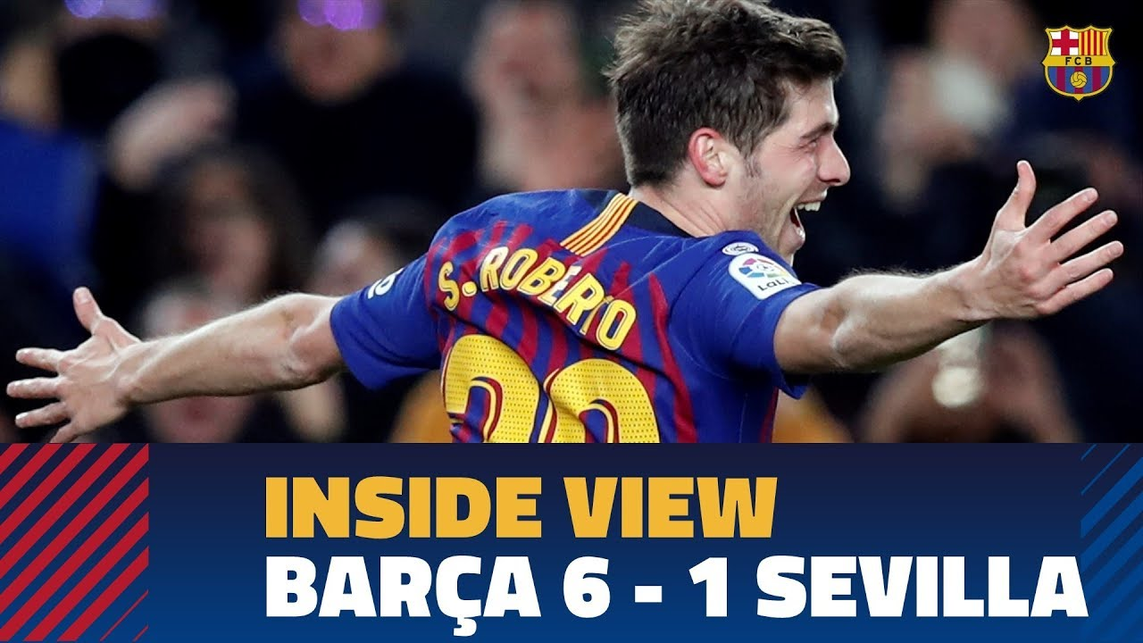 9d705f98e  BEHIND THE SCENES  An inside view of the comeback against Sevilla (6-1).  FC Barcelona