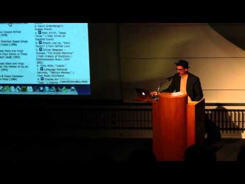 """Lecture: Kenneth Goldsmith, """"A Brief History of UbuWeb """""""