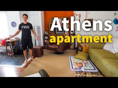 Living in Greece – ATHENS APARTMENT TOUR | $78.67 Per Night!