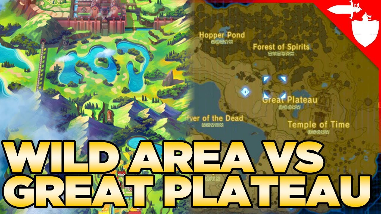 Which is Bigger? The Wild Area VS The Great Plateau - Breath of the Wild VS Pokemon  Sword and Shield - YouTube