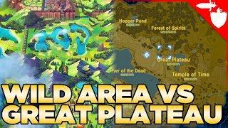 Which is Bigger? The Wild Area VS The Great Plateau - Breath of the Wild VS Pokemon Sword and Shield