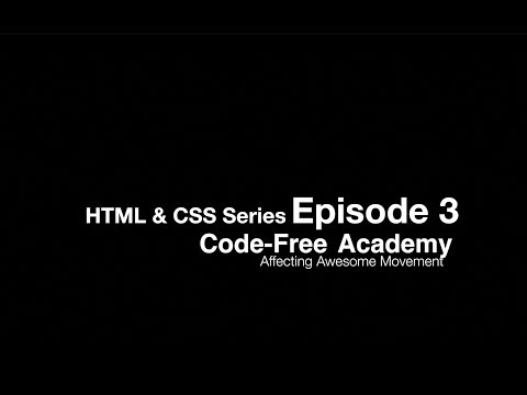 Episode HTML & CSS Introduction Series / How To Build Your 1st Website With Code... Episode