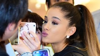 Ariana Grande Arrived at Haneda Airport in Japan on April 11, 2016....