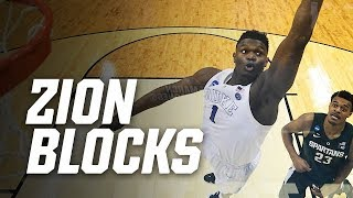 Zion Williamson's 8 best March Madness blocks