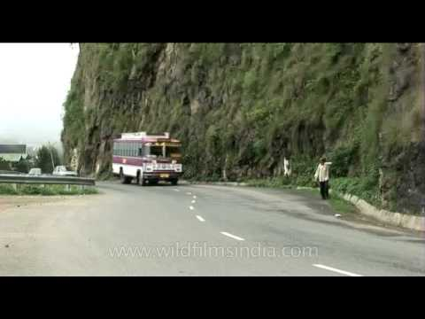 Passing through the beautiful hills of Shimla, Himachal Pradesh