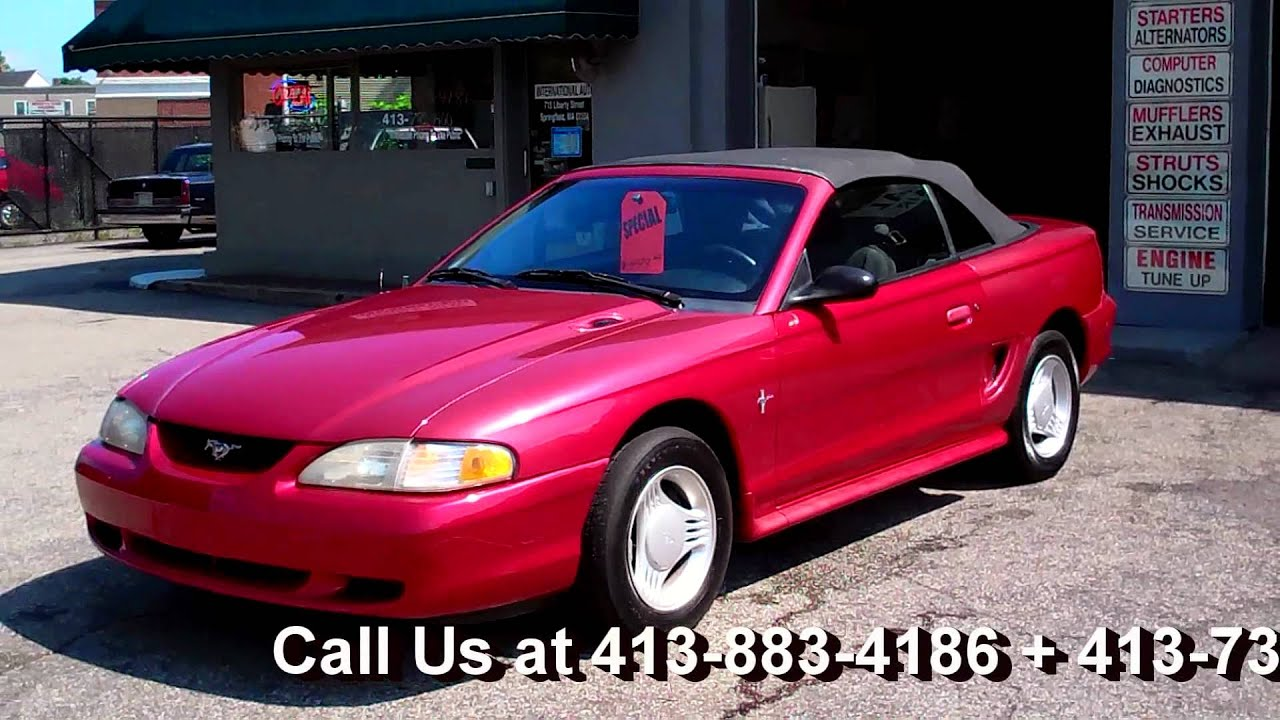 1995 ford mustang convertible v6 coupe