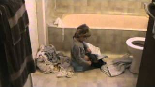 Bela reading TIME going potty.MPG