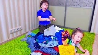 Аминка НЕ ЗНАЕТ что НАДЕТЬ! Камиль СПАСАЕТ сестру! для детей kids children