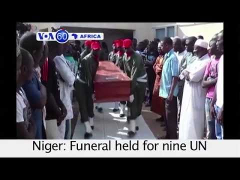 Funeral for 9 UN Peacekeepers Killed in Mali - VOA60 Africa 10-9-14