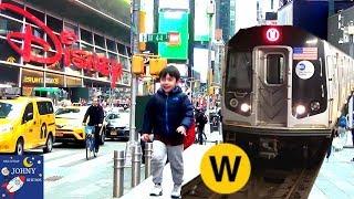 Johny's MTA Subway Train Ride To Times Square Disney Store NYC