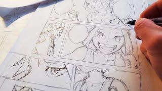 Download Sketching Full Manga Page | Anime Manga Drawing