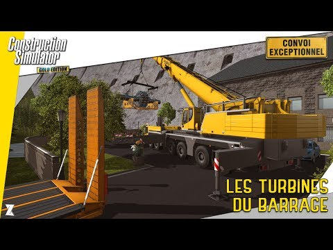 Construction Simulator 2015 | Remplacement de la turbine du barrage - Transport exceptionnel !