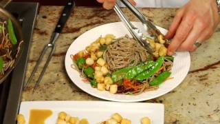 Sargent Choice Cooking: Mizo-glazed Scallops With Fresh Vegetables And Soba Noodles