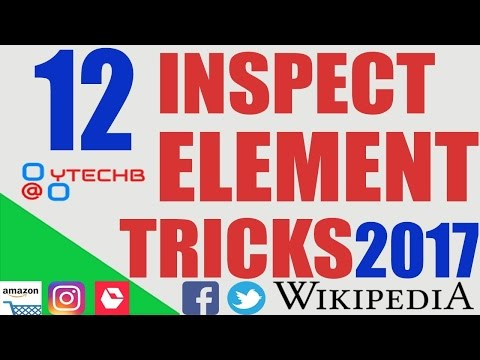 12 Amazing New Inspect Element Tricks on a Browser You Should Try 2017 By YTECHB