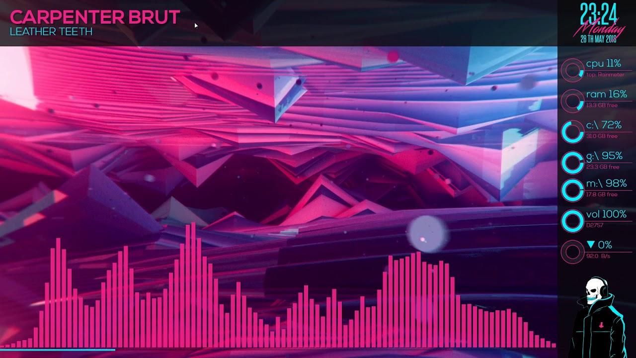 666 Synthwave Overkill Visualizer Rainmeter Desktop Theme